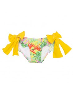 Tropical+amarillo Lazos licra braguita