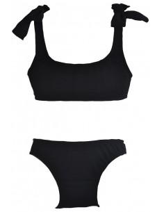 Bikini licra crepe negro