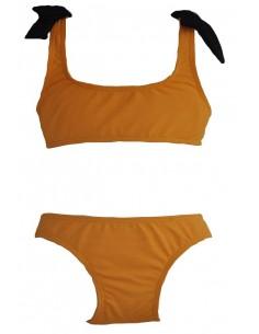 Bikini licra crepe mostaza